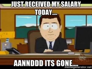 Where did my salary go?