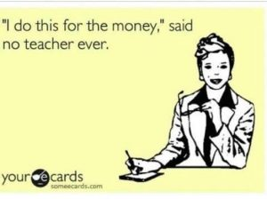 Teaching for money