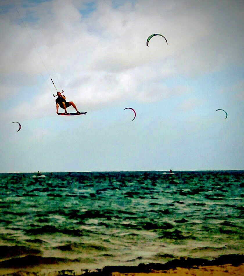Instagram action at Le Morne kite beach, Mauritius