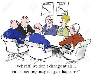 What if we don't change at all ... and something magical just happens?